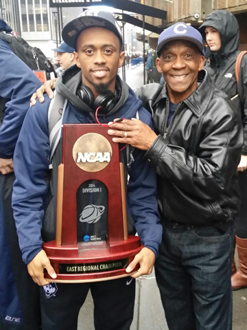 Ryan and Tom with NCAA Trophy
